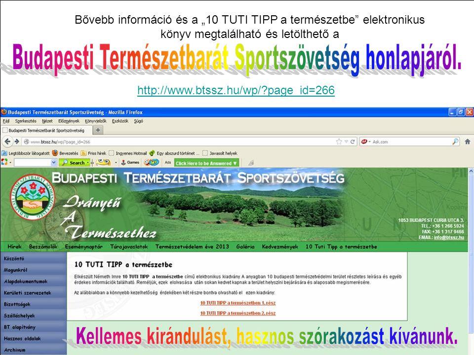 Budapesti Természetbarát Sportszövetség honlapjáról.