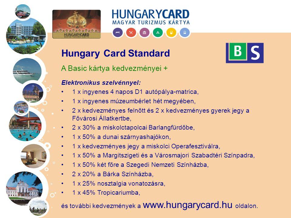Hungary Card Standard A Basic kártya kedvezményei +
