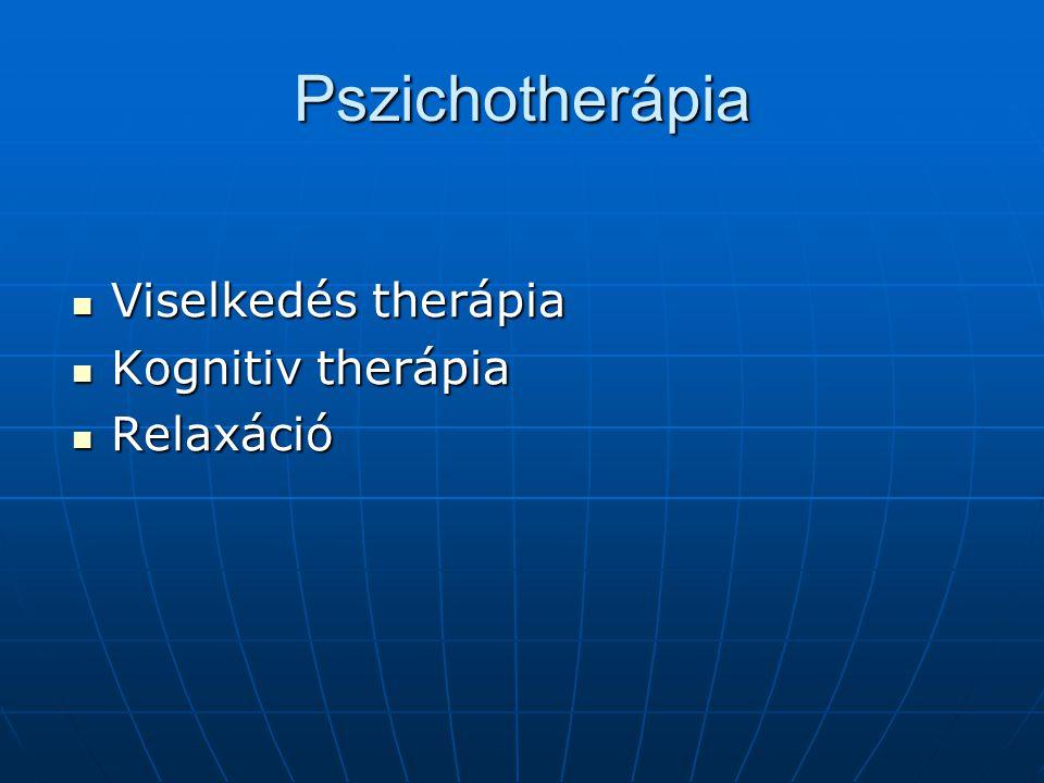 Pszichotherápia Viselkedés therápia Kognitiv therápia Relaxáció