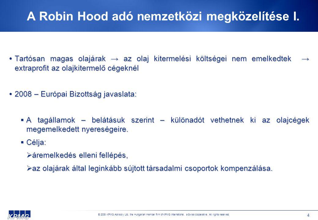 A Robin Hood adó nemzetközi megközelítése II.