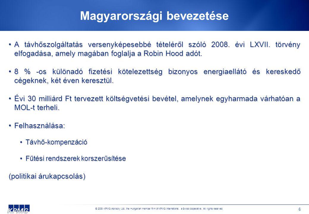 Az adó jellemzői I. Alanya: az energiaellátó, ideértve az ilyen tevékenységet belföldön végző külföldi vállalkozót is.