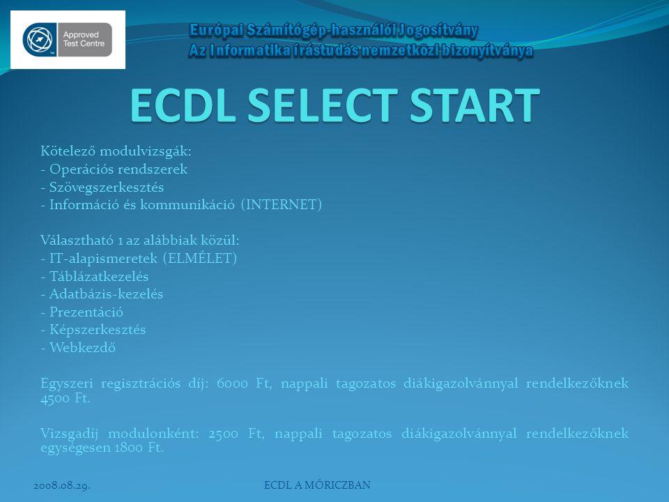 ECDL SELECT START