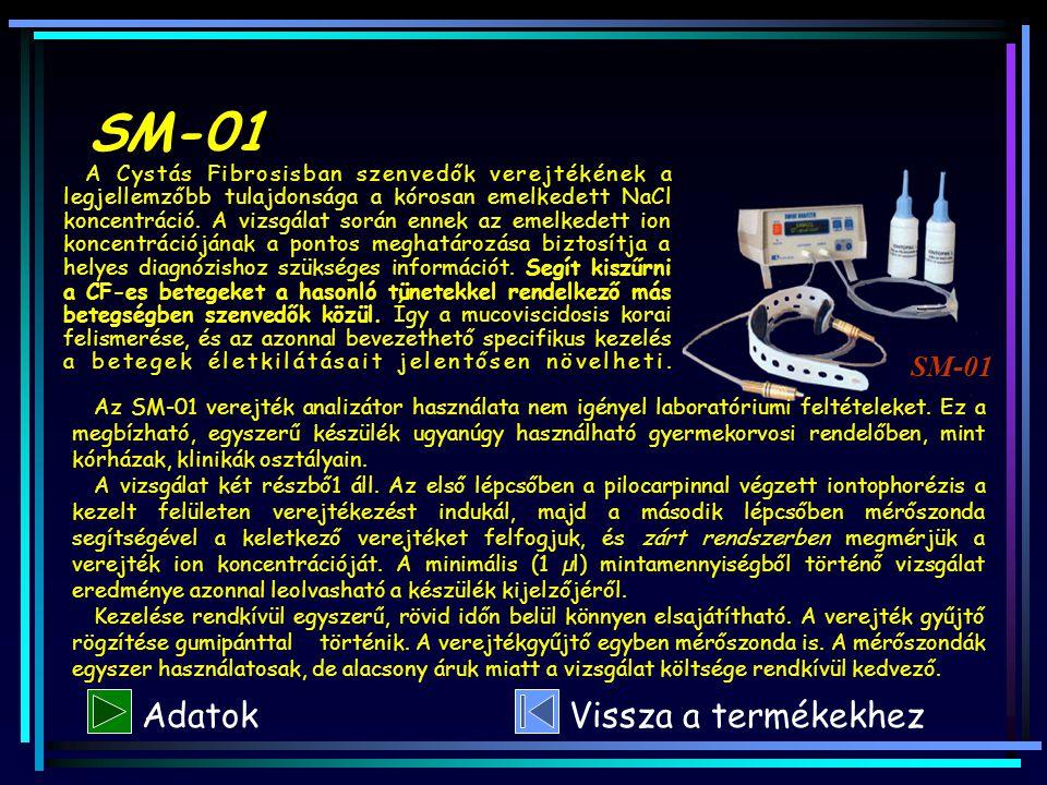 SM-01 Adatok Vissza a termékekhez SM-01