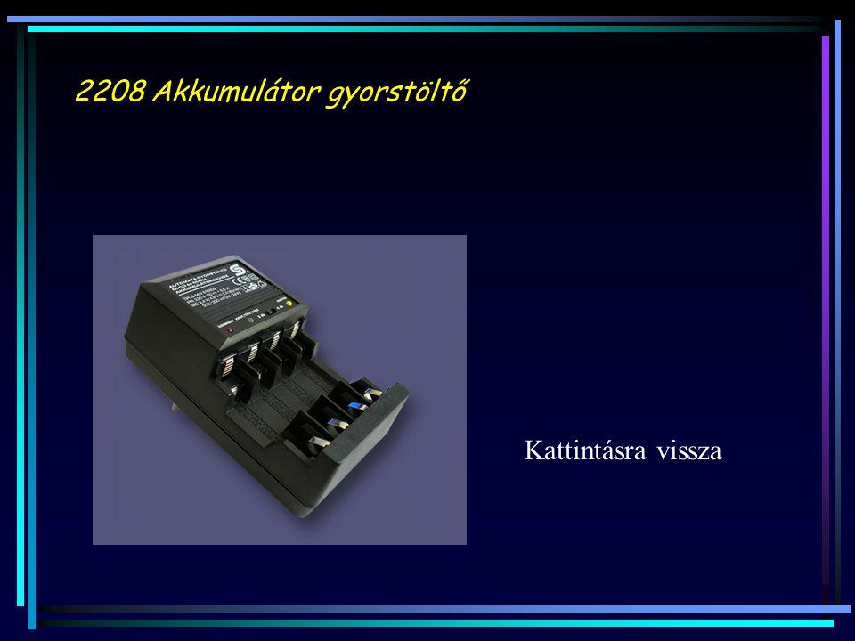 2208 Akkumulátor gyorstöltő