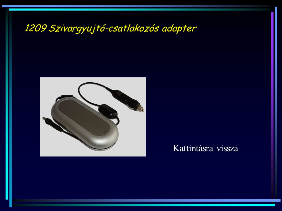 1209 Szivargyujtó-csatlakozós adapter