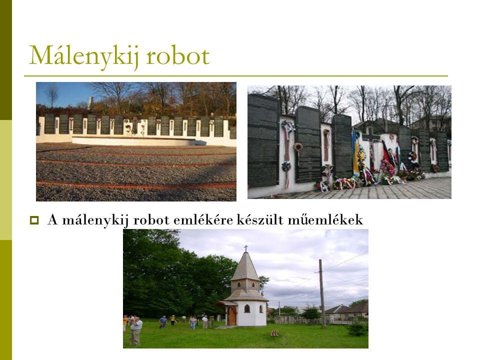 Málenykij robot A málenykij robot emlékére készült műemlékek