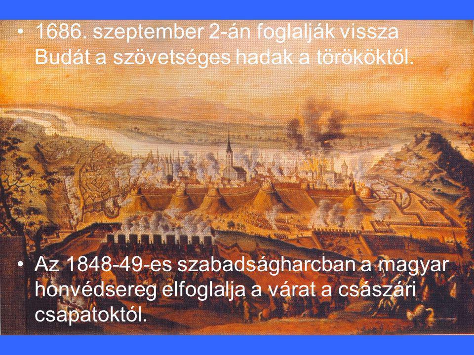 1686. szeptember 2-án foglalják vissza Budát a szövetséges hadak a törököktől.