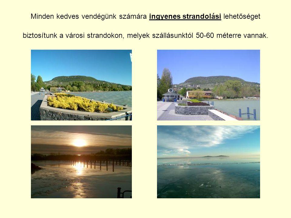 Minden kedves vendégünk számára ingyenes strandolási lehetőséget biztosítunk a városi strandokon, melyek szállásunktól 50-60 méterre vannak.