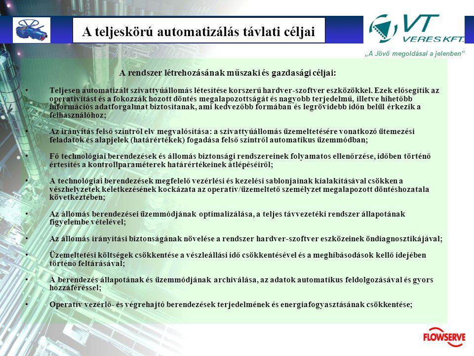 A teljeskörú automatizálás távlati céljai