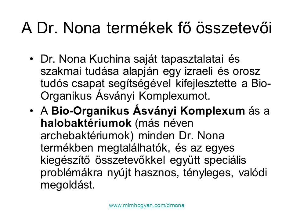 A Dr. Nona termékek fő összetevői