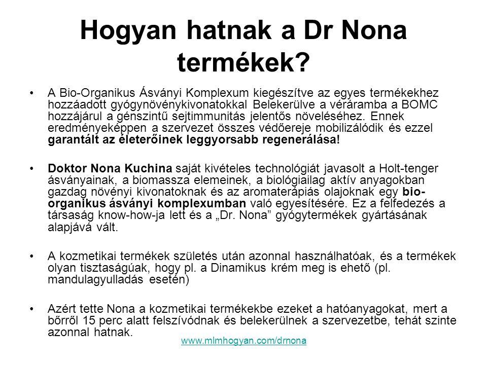 Hogyan hatnak a Dr Nona termékek