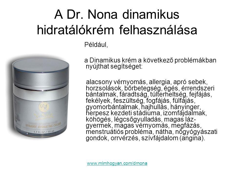 A Dr. Nona dinamikus hidratálókrém felhasználása