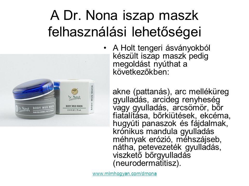 A Dr. Nona iszap maszk felhasználási lehetőségei