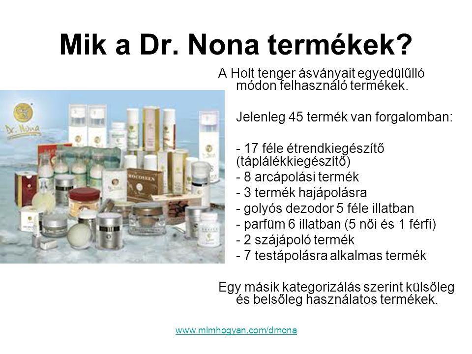 Mik a Dr. Nona termékek A Holt tenger ásványait egyedülűlló módon felhasználó termékek. Jelenleg 45 termék van forgalomban: