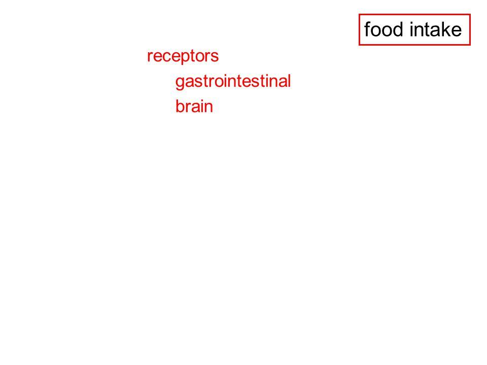 food intake receptors gastrointestinal brain