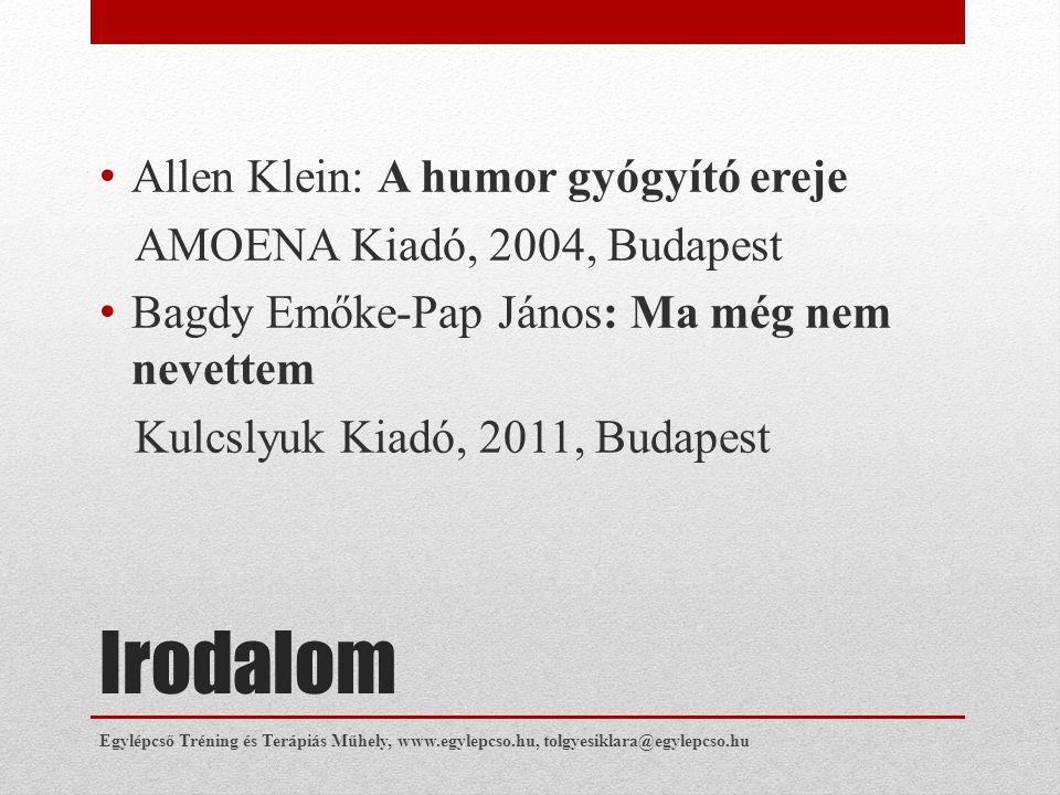 Irodalom Allen Klein: A humor gyógyító ereje