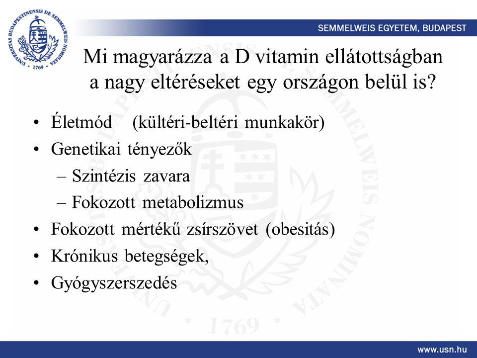 Mi magyarázza a D vitamin ellátottságban a nagy eltéréseket egy országon belül is