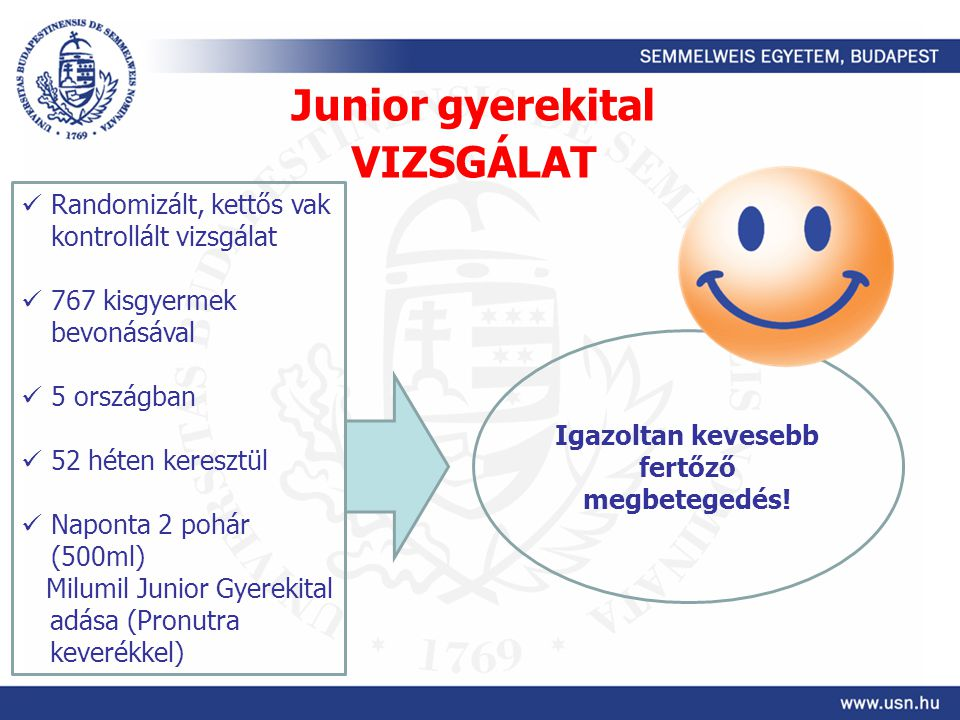 Junior gyerekital VIZSGÁLAT
