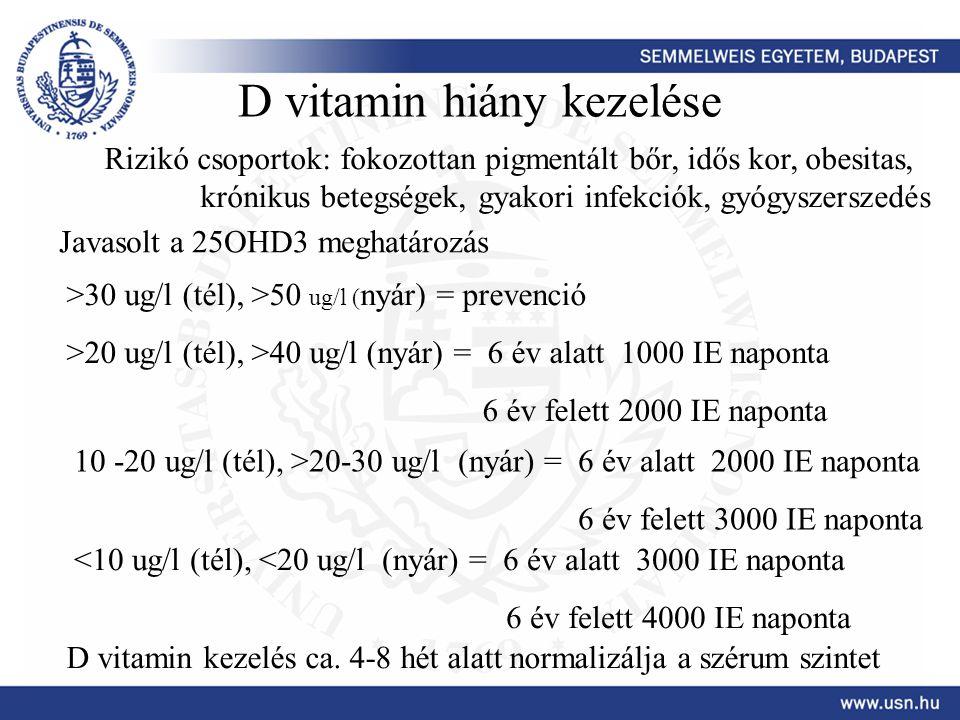 D vitamin hiány kezelése