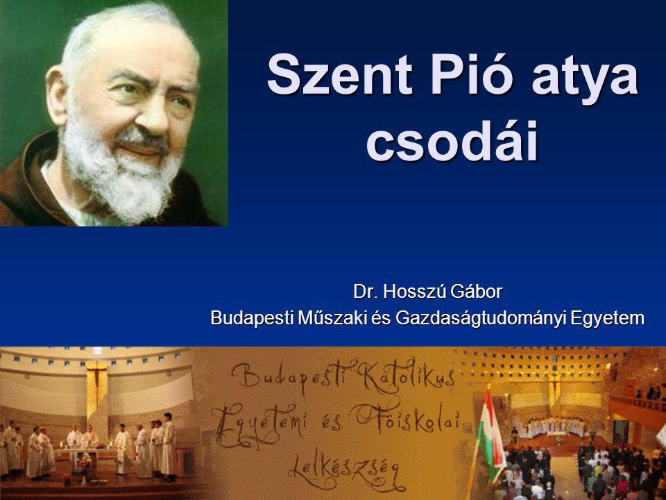 Dr. Hosszú Gábor Budapesti Műszaki és Gazdaságtudományi Egyetem