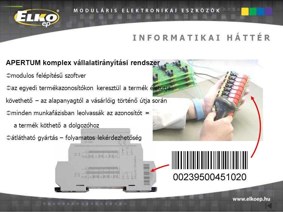 I N F O R M A T I K A I H Á T T É R APERTUM komplex vállalatirányítási rendszer. modulos felépítésű szoftver.