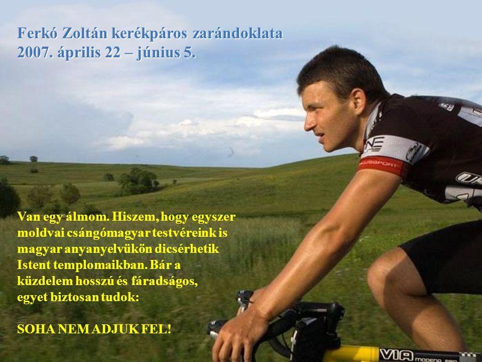 Eleje Ferkó Zoltán kerékpáros zarándoklata
