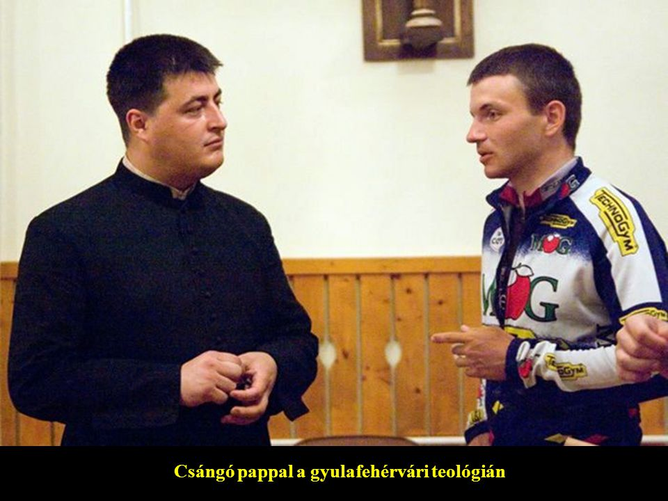 Csángó pappal a gyulafehérvári teológián
