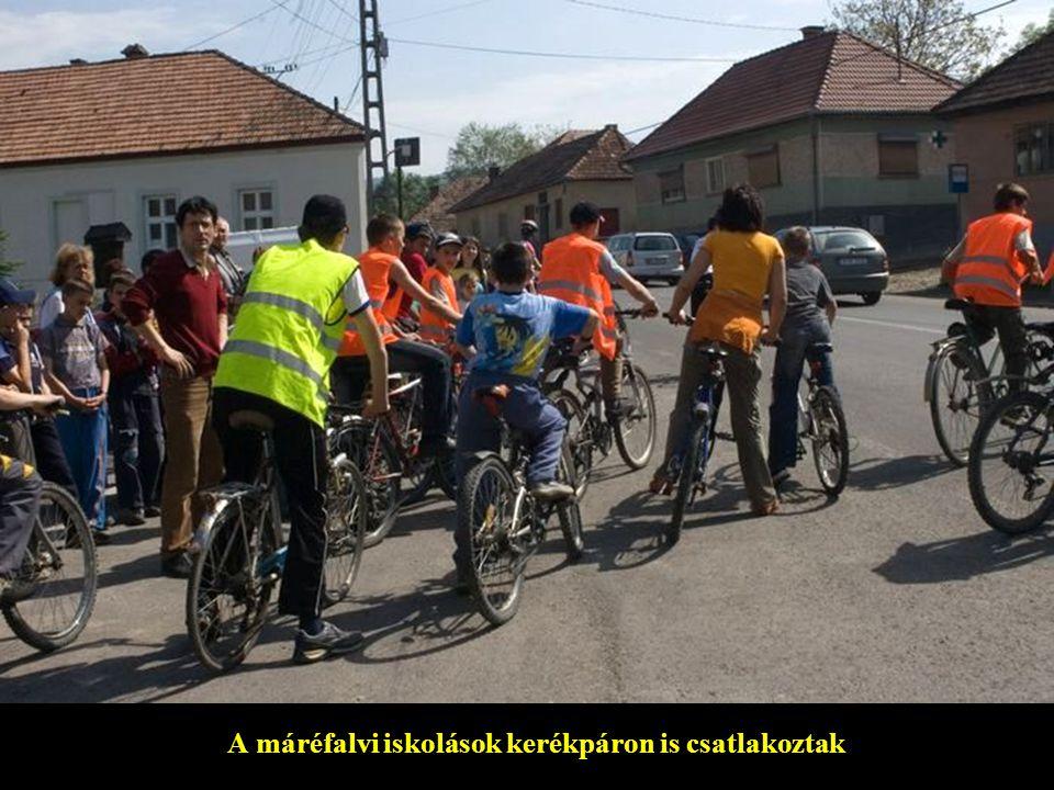 A máréfalvi iskolások kerékpáron is csatlakoztak