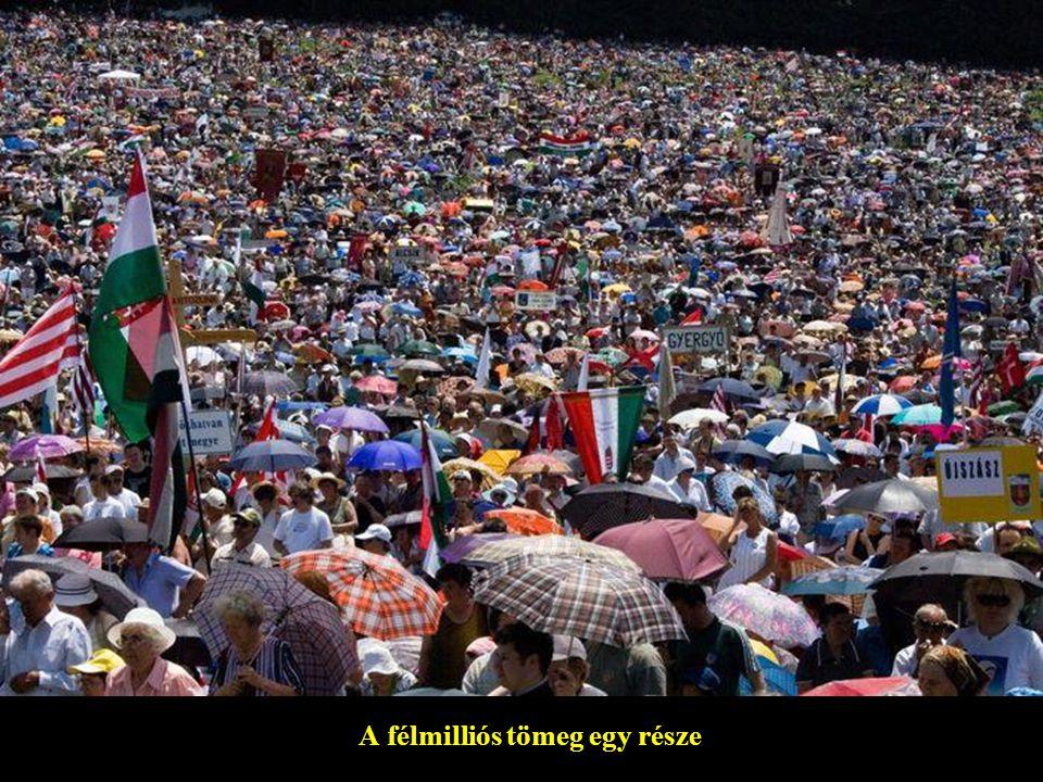 A félmilliós tömeg egy része