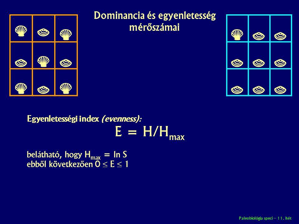 Dominancia és egyenletesség mérőszámai