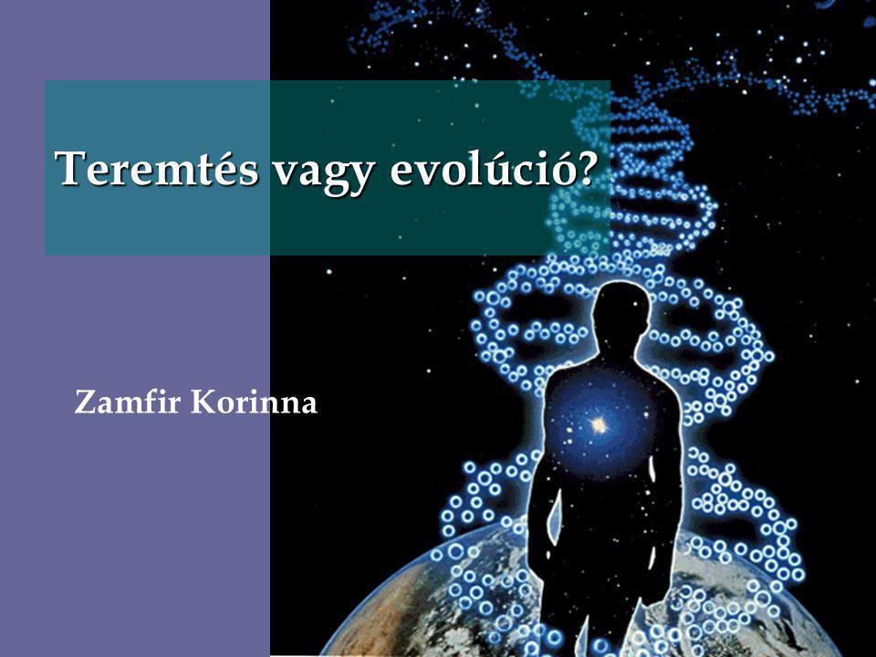 Teremtés vagy evolúció