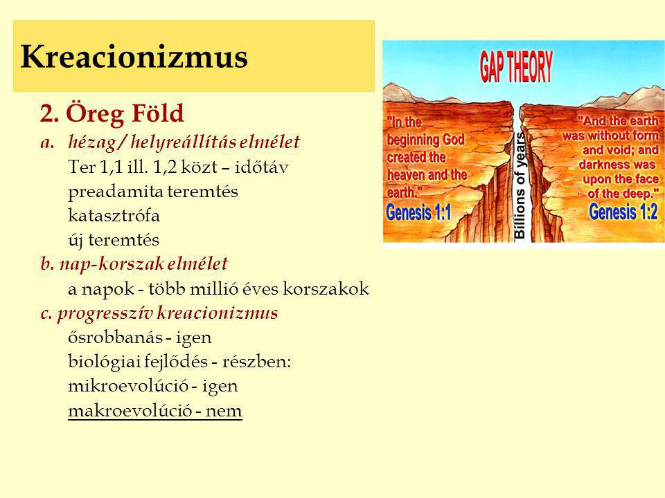 Kreacionizmus 2. Öreg Föld hézag / helyreállítás elmélet