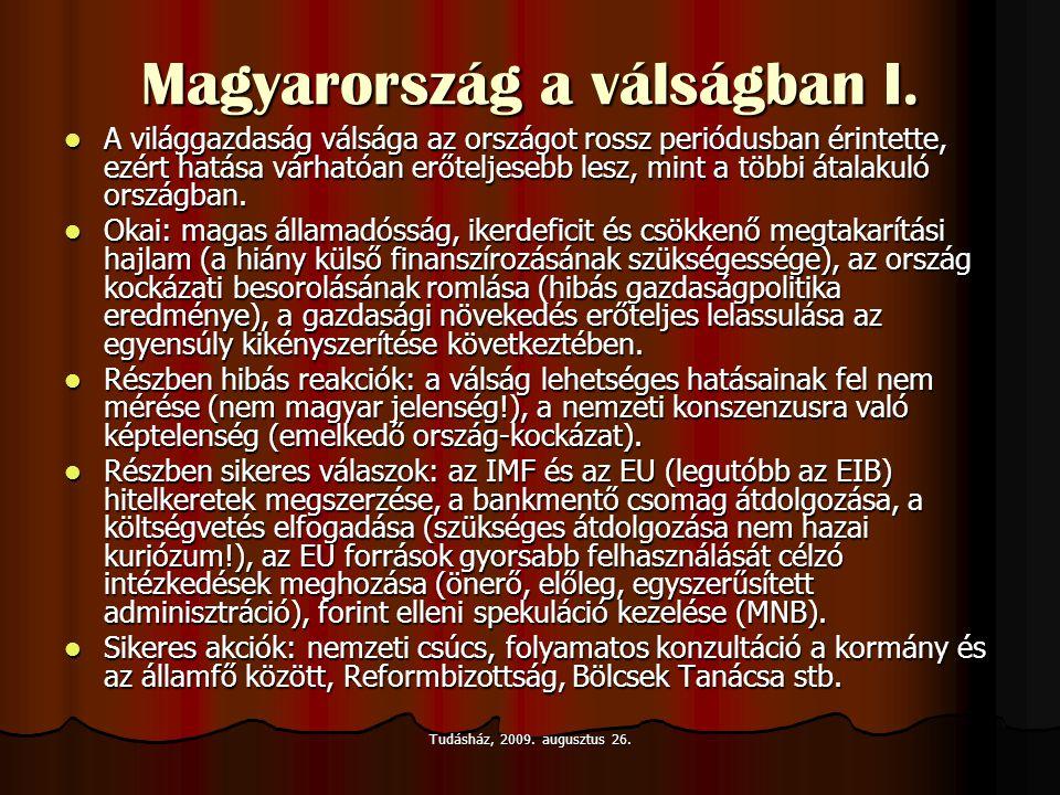 Magyarország a válságban I.