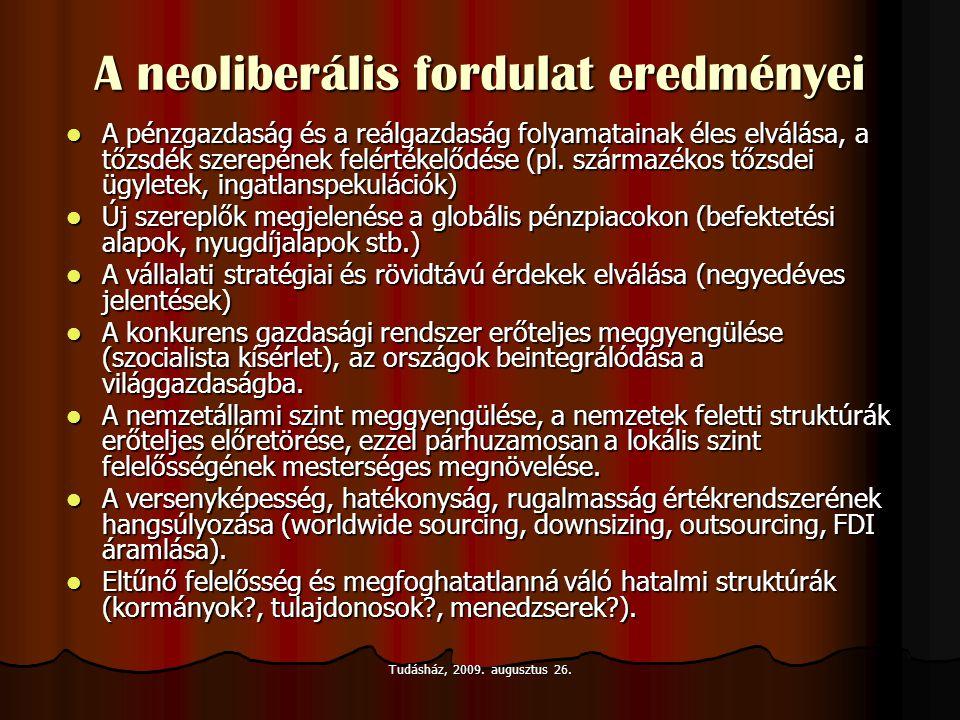 A neoliberális fordulat eredményei