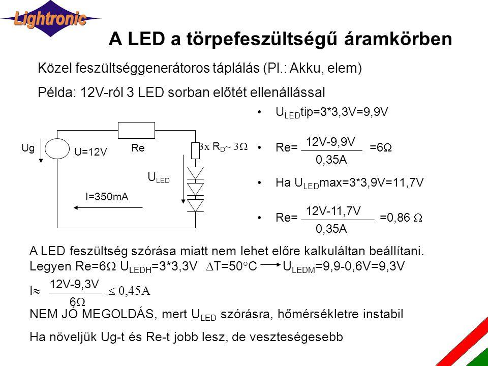 A LED a törpefeszültségű áramkörben