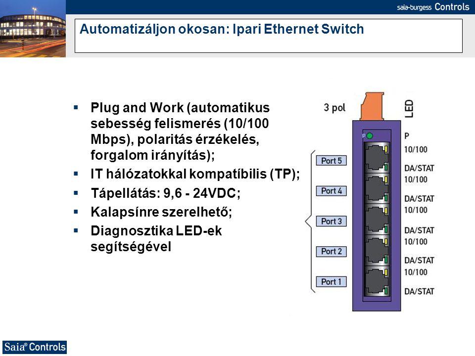 Automatizáljon okosan: Ipari Ethernet Switch