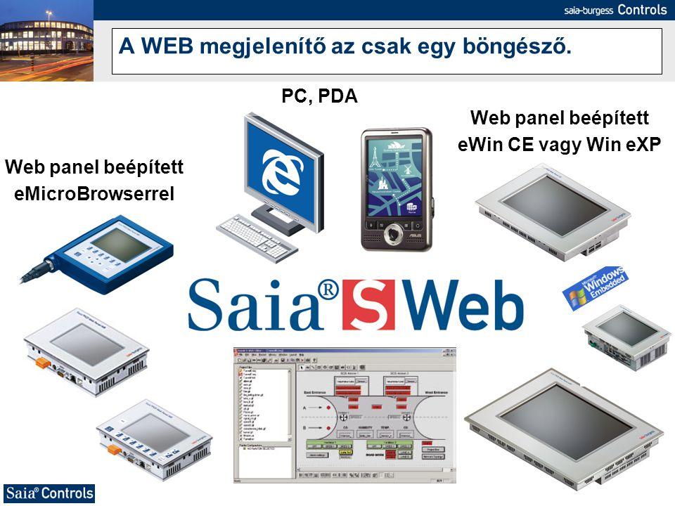 A WEB megjelenítő az csak egy böngésző.