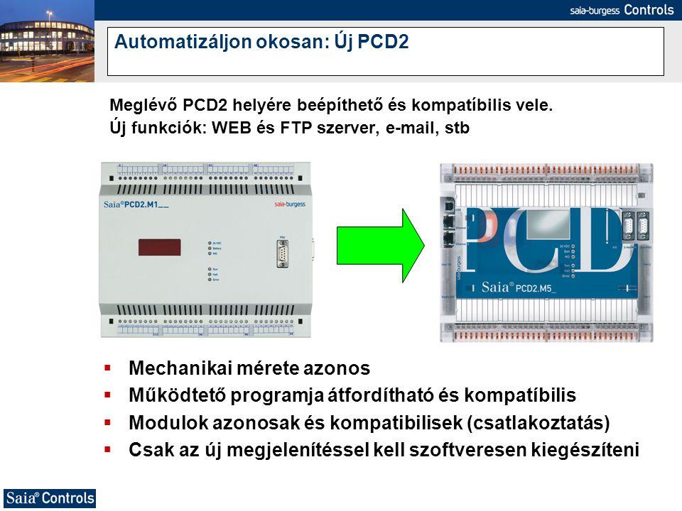 Automatizáljon okosan: Új PCD2
