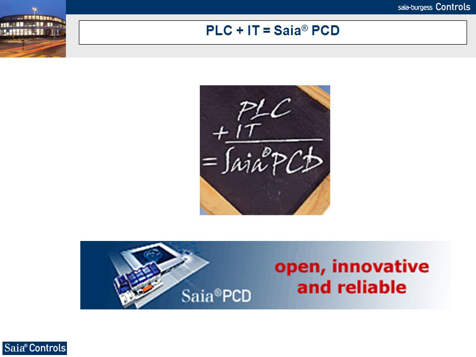 PLC + IT = Saia® PCD