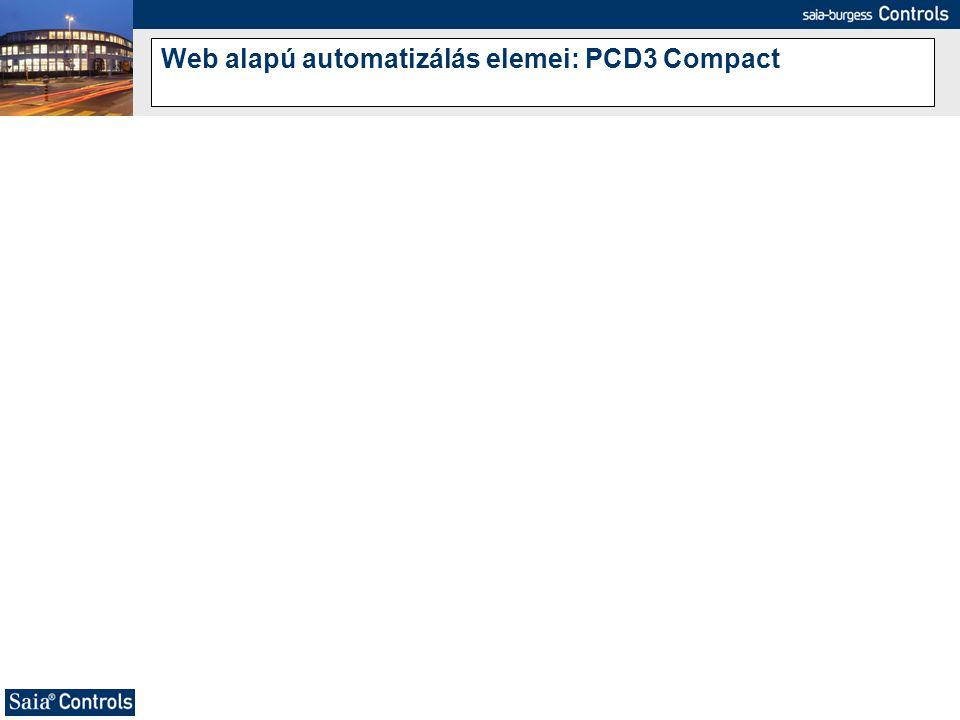 Web alapú automatizálás elemei: PCD3 Compact