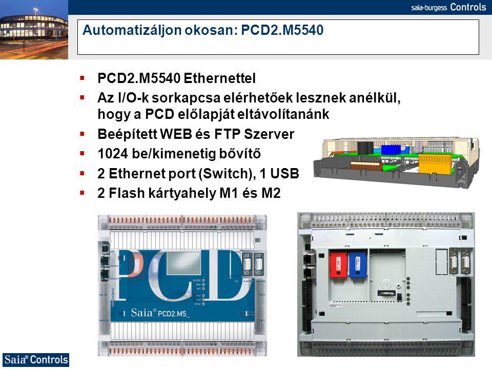 Automatizáljon okosan: PCD2.M5540