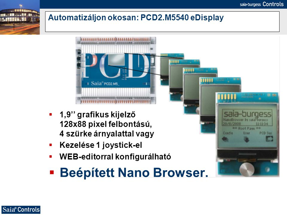 Automatizáljon okosan: PCD2.M5540 eDisplay