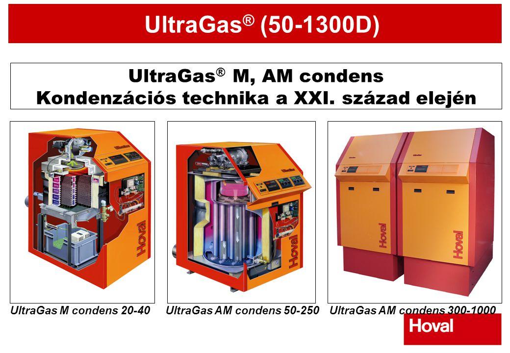 UltraGas® M, AM condens Kondenzációs technika a XXI. század elején