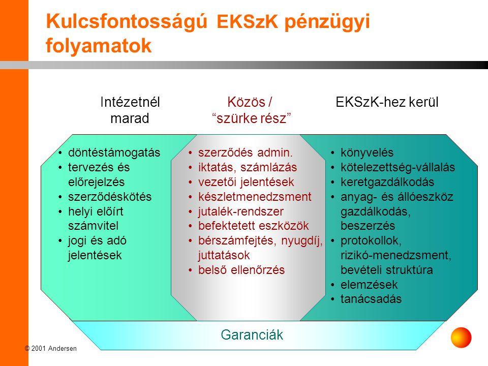 Kulcsfontosságú EKSzK pénzügyi folyamatok