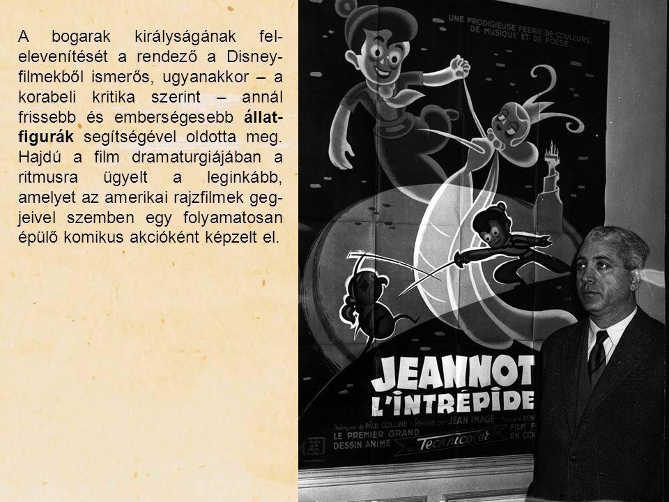 A bogarak királyságának fel-elevenítését a rendező a Disney-filmekből ismerős, ugyanakkor – a korabeli kritika szerint – annál frissebb és emberségesebb állat-figurák segítségével oldotta meg.