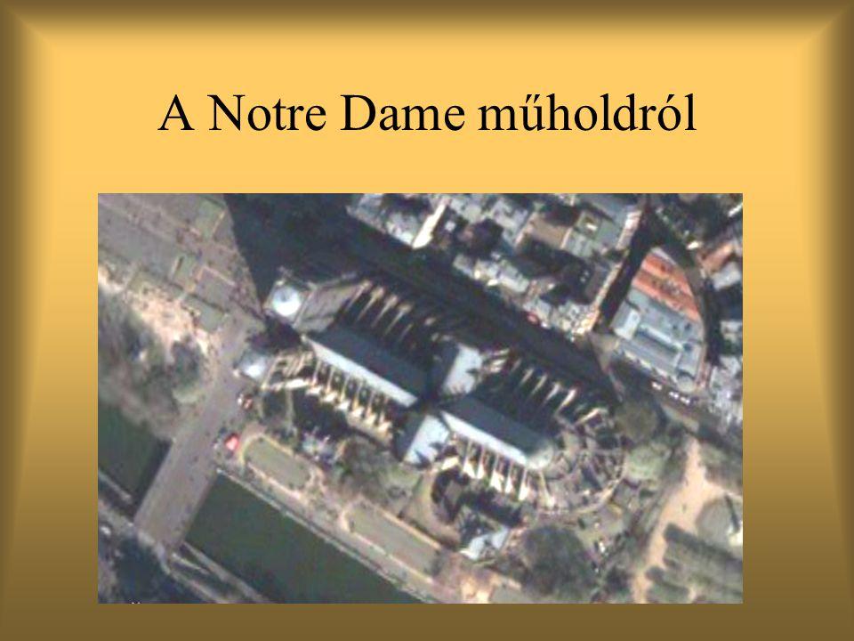 A Notre Dame műholdról