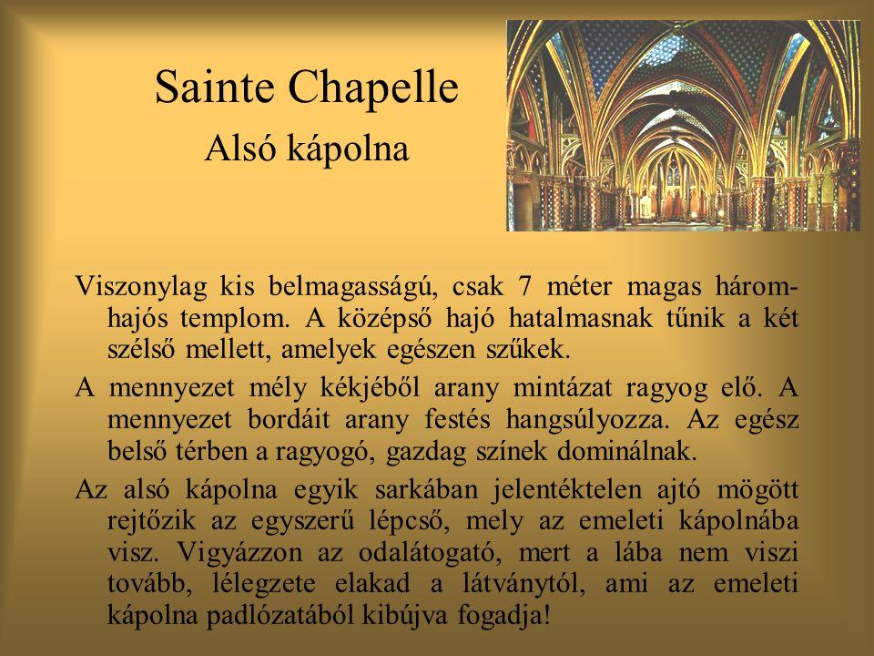 Sainte Chapelle Alsó kápolna
