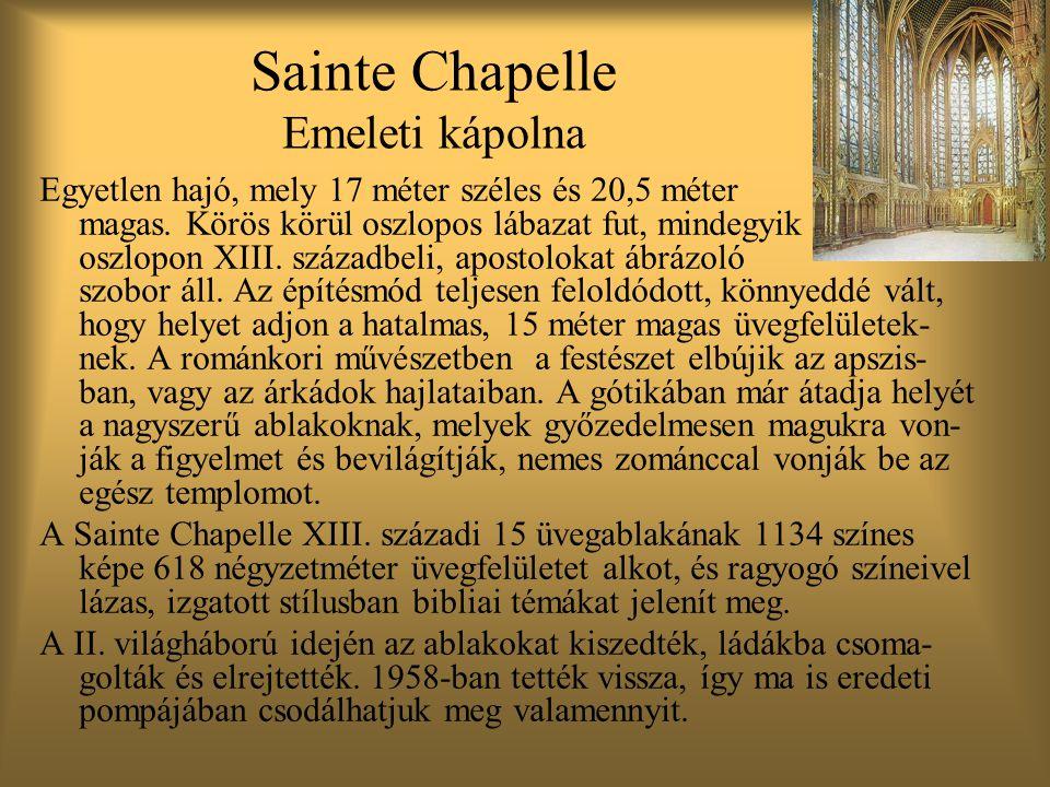 Sainte Chapelle Emeleti kápolna