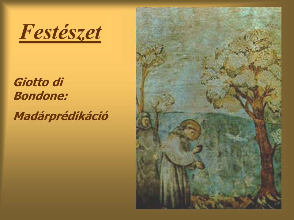 Festészet Giotto di Bondone: Madárprédikáció