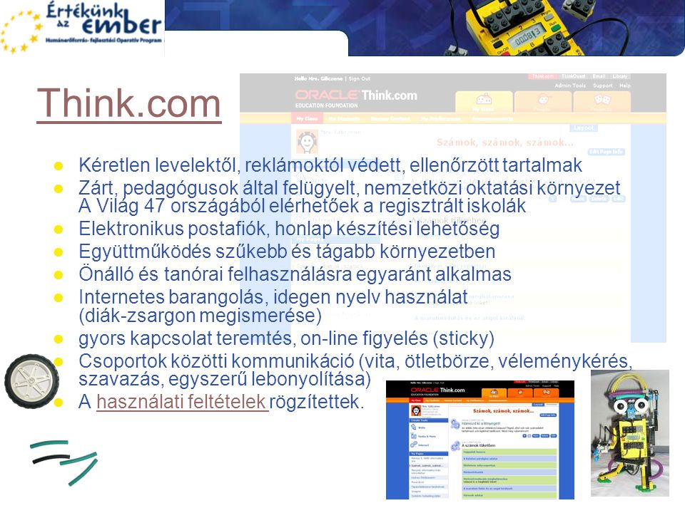Think.com Kéretlen levelektől, reklámoktól védett, ellenőrzött tartalmak.